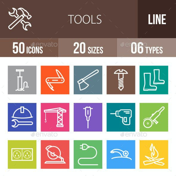 Tools Line Multicolor Icons
