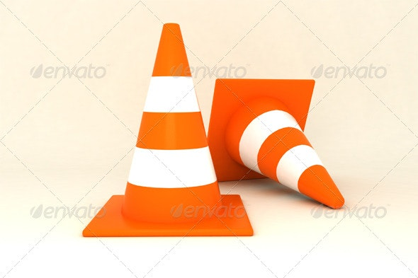 Traffic Cones - Objects 3D Renders