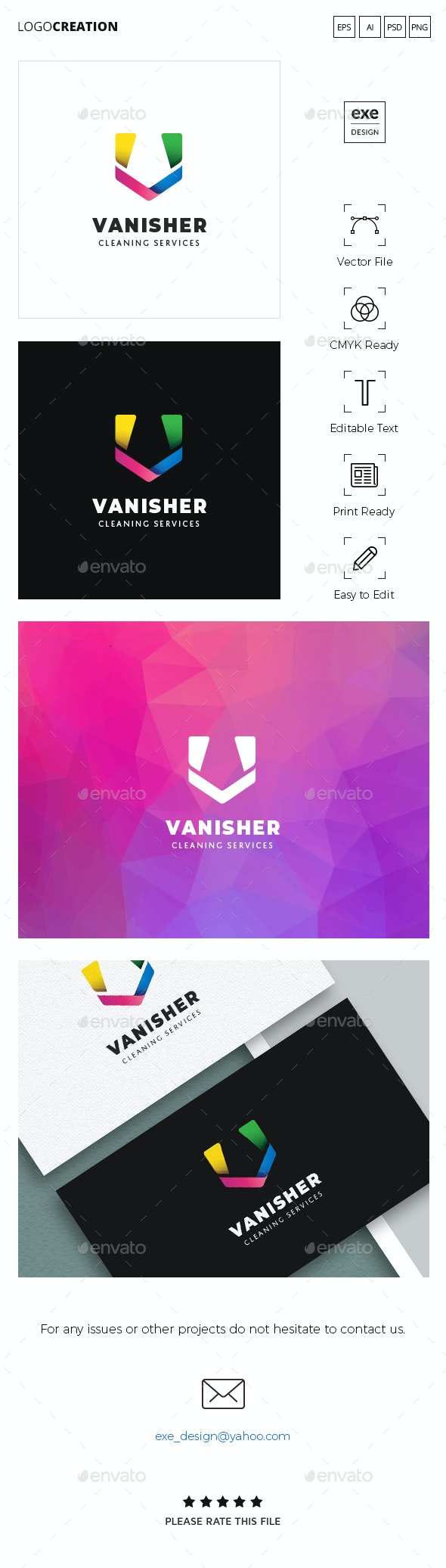 Letter V Logo - Letters Logo Templates