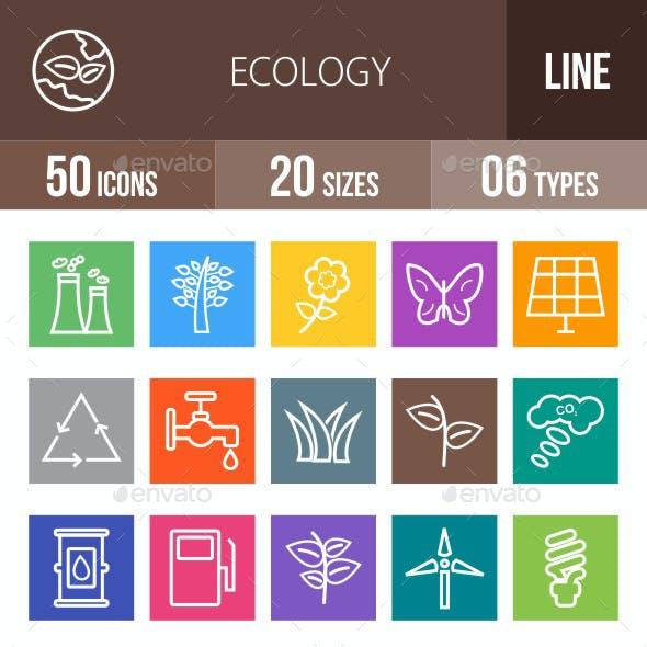 Ecology Line Multicolor Icons