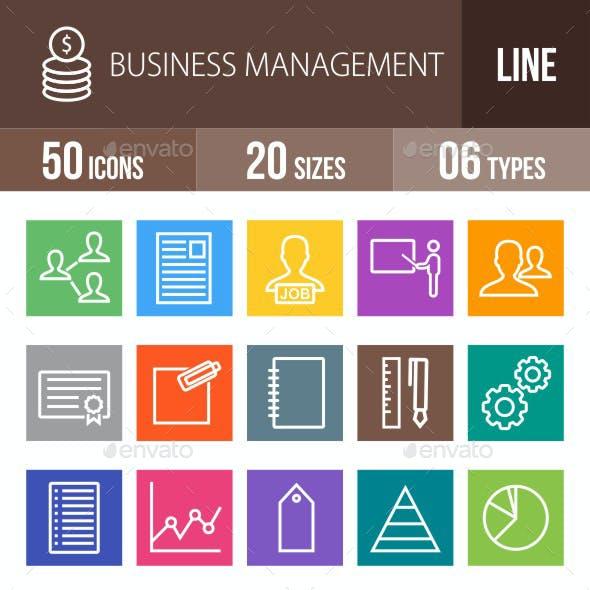 Business Management Line Multicolor Icons