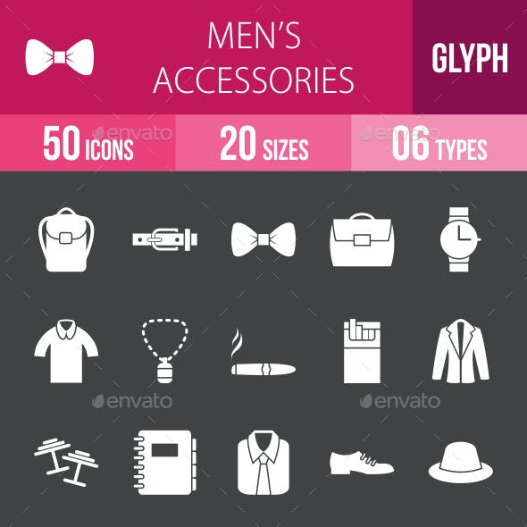 Men's Accessories Glyph Inverted Icons