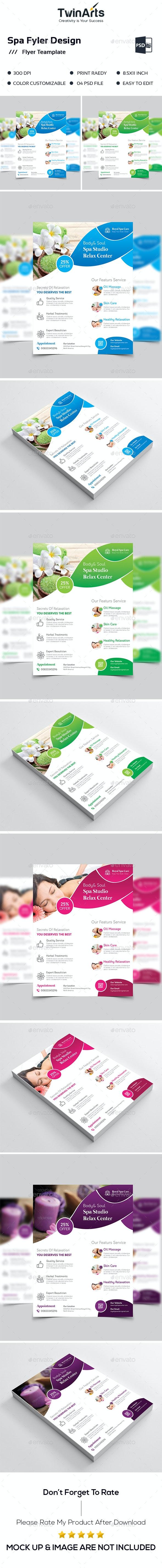 Spa Flyer. - Flyers Print Templates