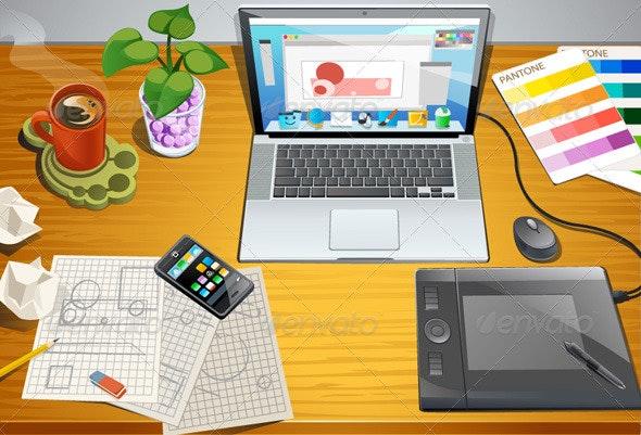 Designer Desk - Business Conceptual