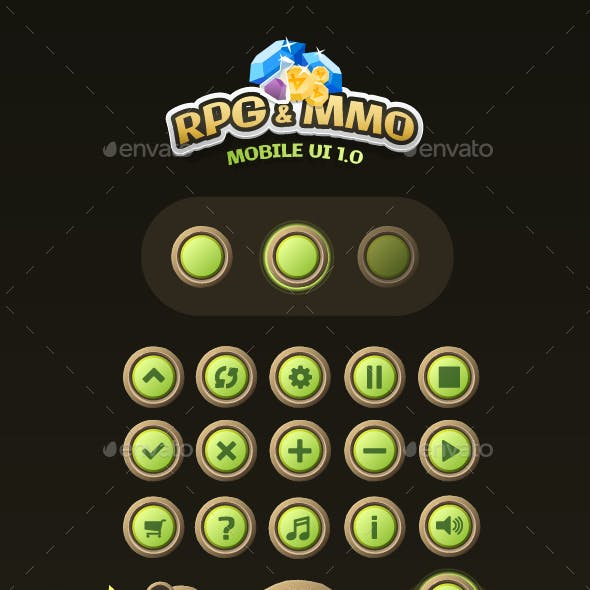 Mobile Game UI Assets 1