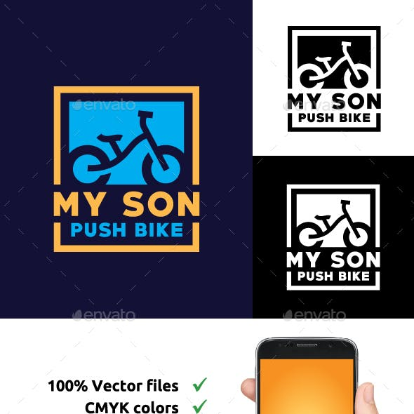 Kid Push Bike logo design inspiration