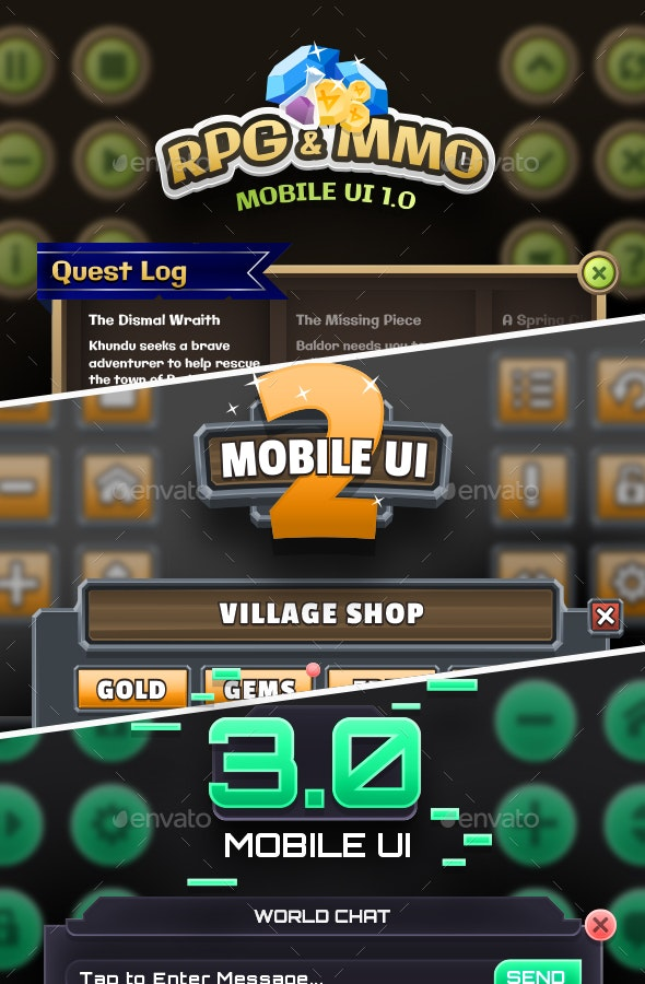 Mobile Game UI Bundle 1 by WintersDesign | GraphicRiver
