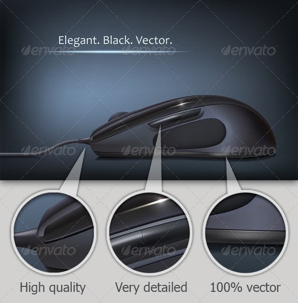 Black Computer Mouse - Computers Technology