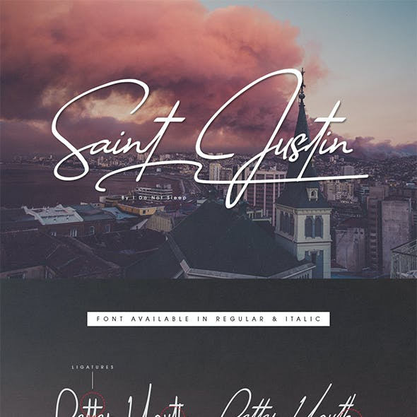 Saint Justin Signature