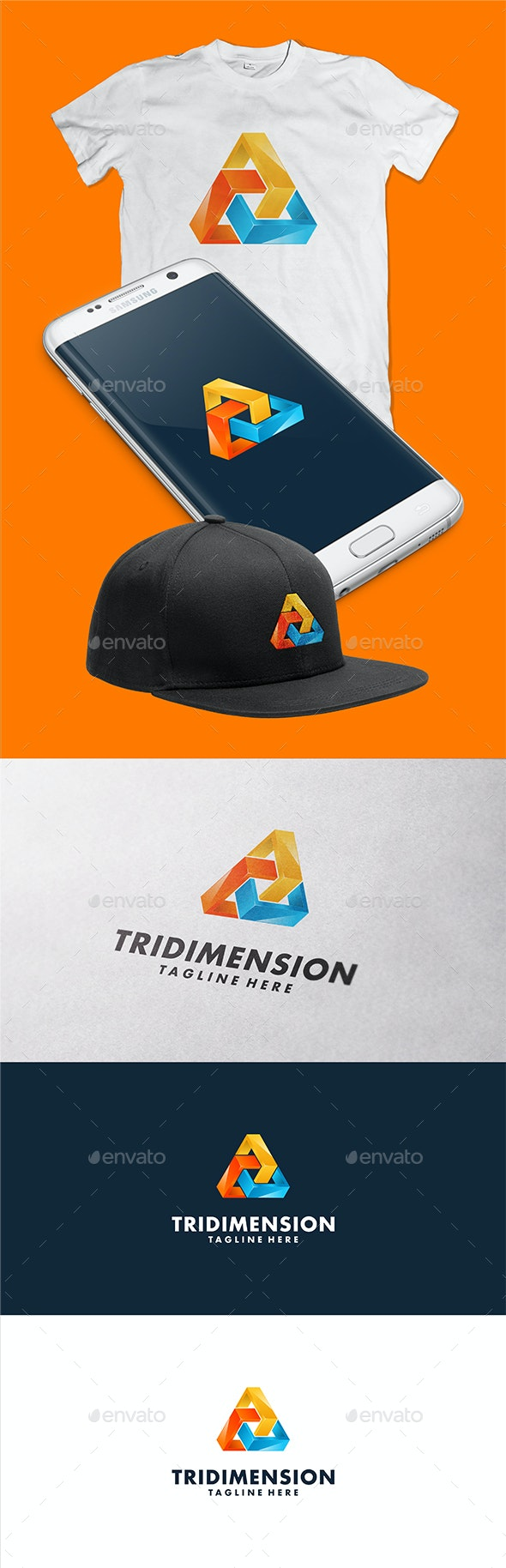 Tridimension Logo Template - 3d Abstract