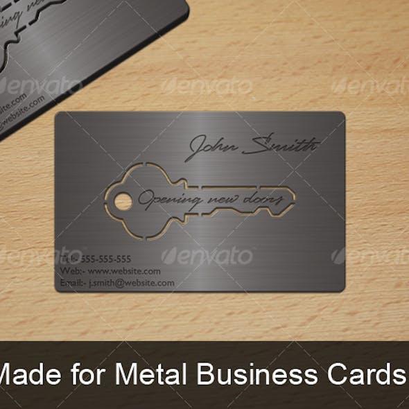 Metal Key Business Card