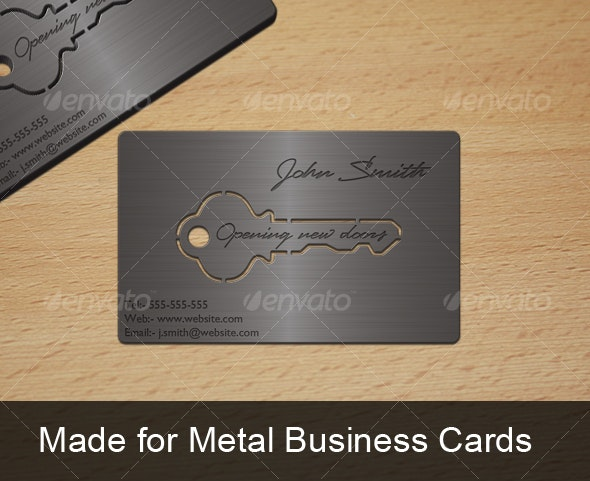 Metal Key Business Card - Real Objects Business Cards