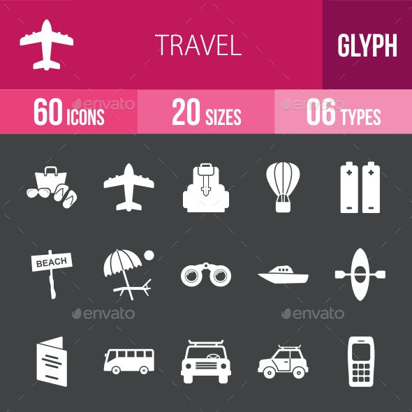 Travel Glyph Inverted Icons