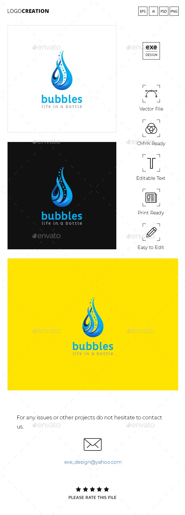 Water Logo - Nature Logo Templates