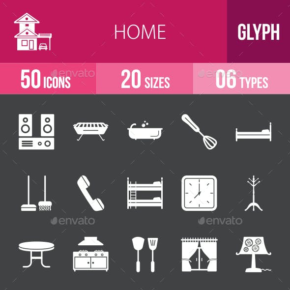 Home Glyph Inverted Icons
