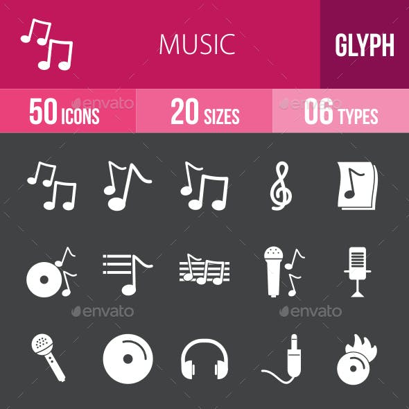 Music Glyph Inverted Icons