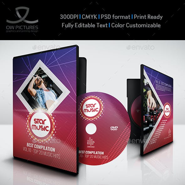 Music DVD Cover and Label Template