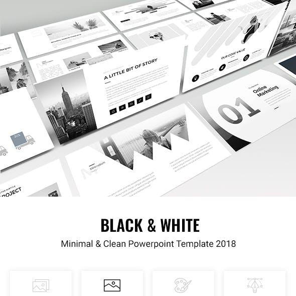 Minimal - Black & White Powerpoint Template 2018