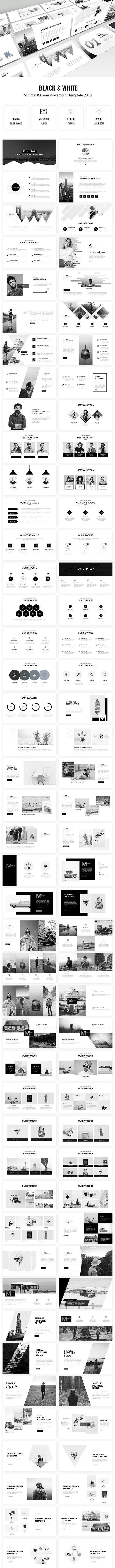 Minimal - Black & White Powerpoint Template 2018 - Creative PowerPoint Templates