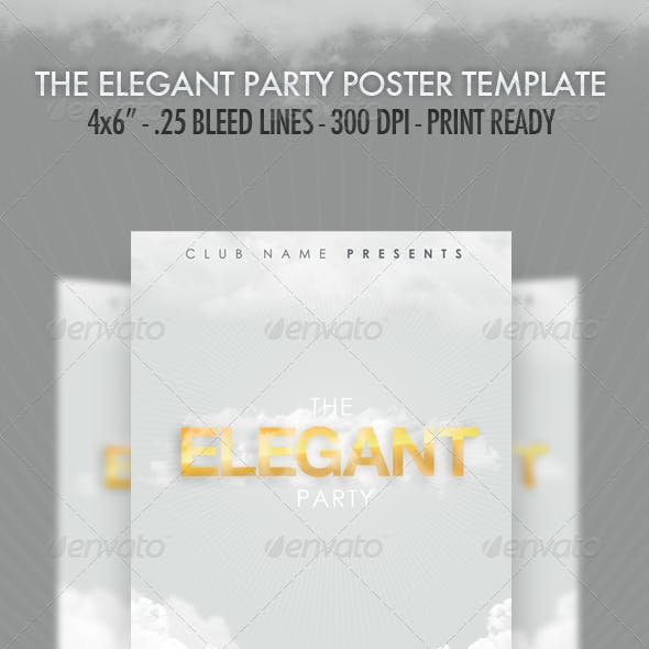 The Elegant Party - Flyer Template