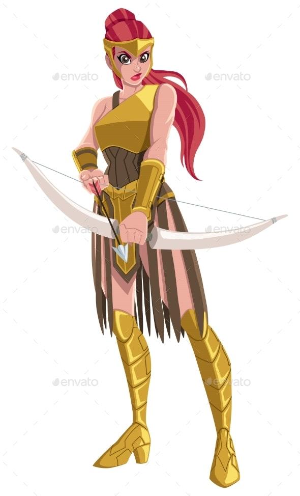 Amazon Archer Warrior - People Characters