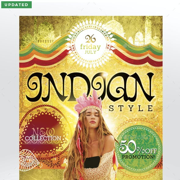 Indian Style Flyer Template