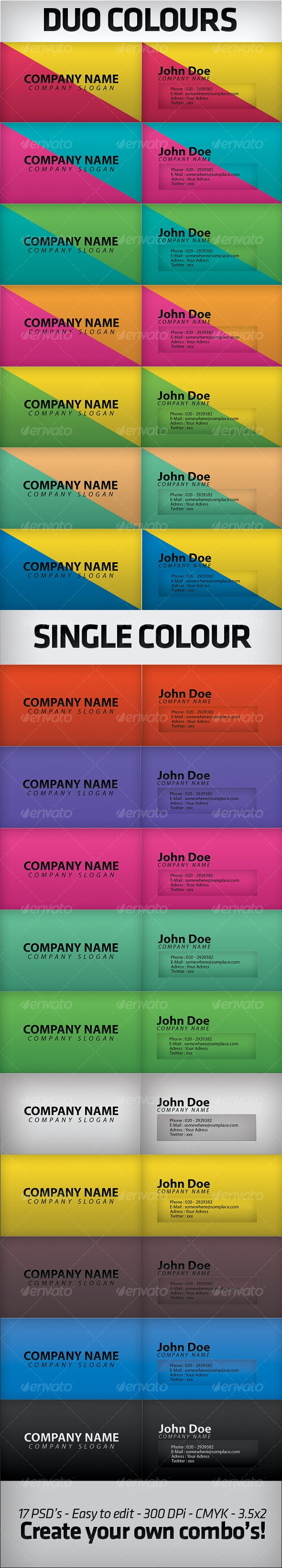 Business Cards - Clean Cards - Creative Business Cards