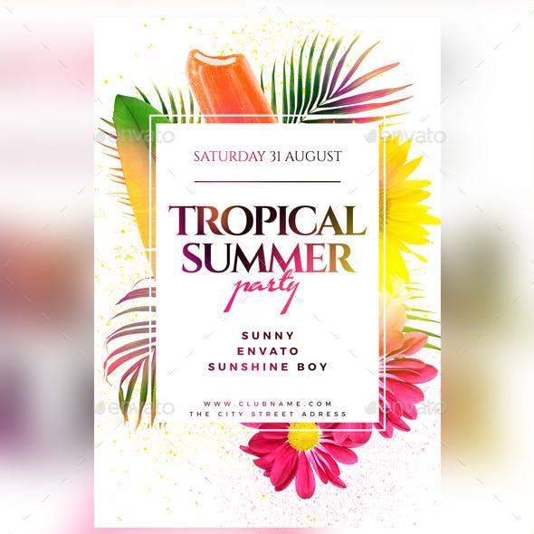 Tropical Summer Flyer
