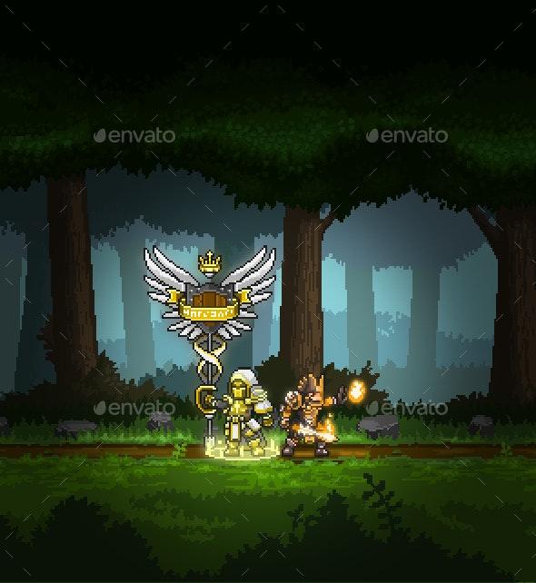 Pixel Art Medieval Fantasy Characters Pack - Sprites Game Assets