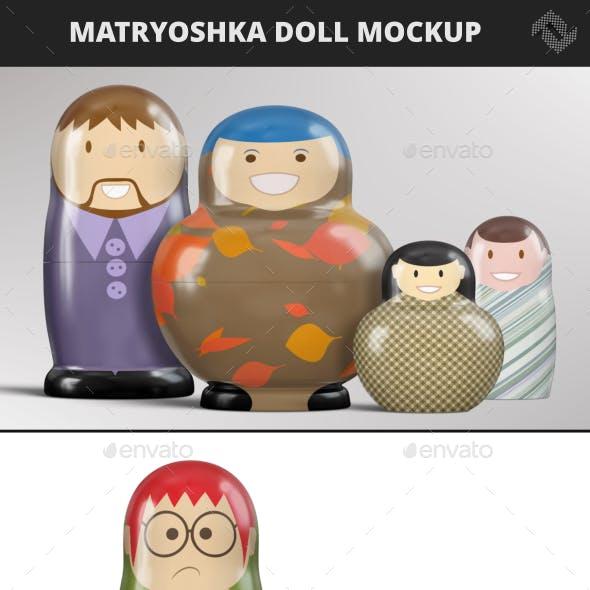 Matryoshka Doll Mockup