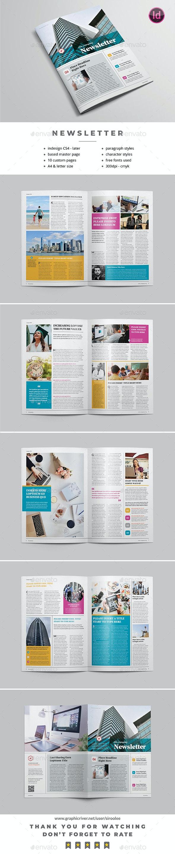 Multipurpose Newsletter v.06 - Newsletters Print Templates
