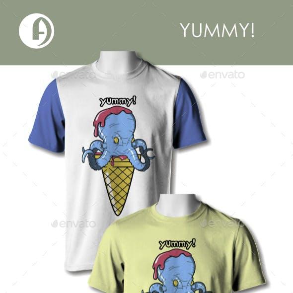Yummy Ice Cream Octopus