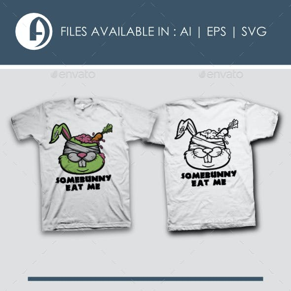 Zombie Rabbit T-Shirt Design