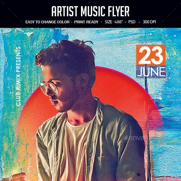 Artist Music Flyer