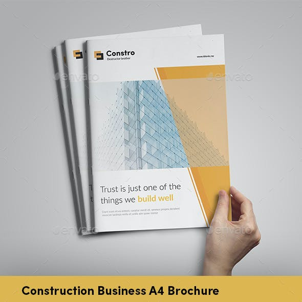 Construction A4 Brochure - InDesign Template