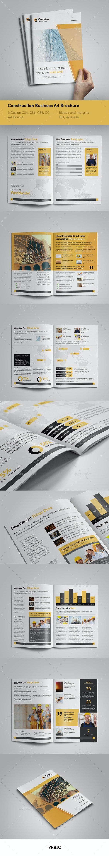 Construction A4 Brochure - InDesign Template - Brochures Print Templates