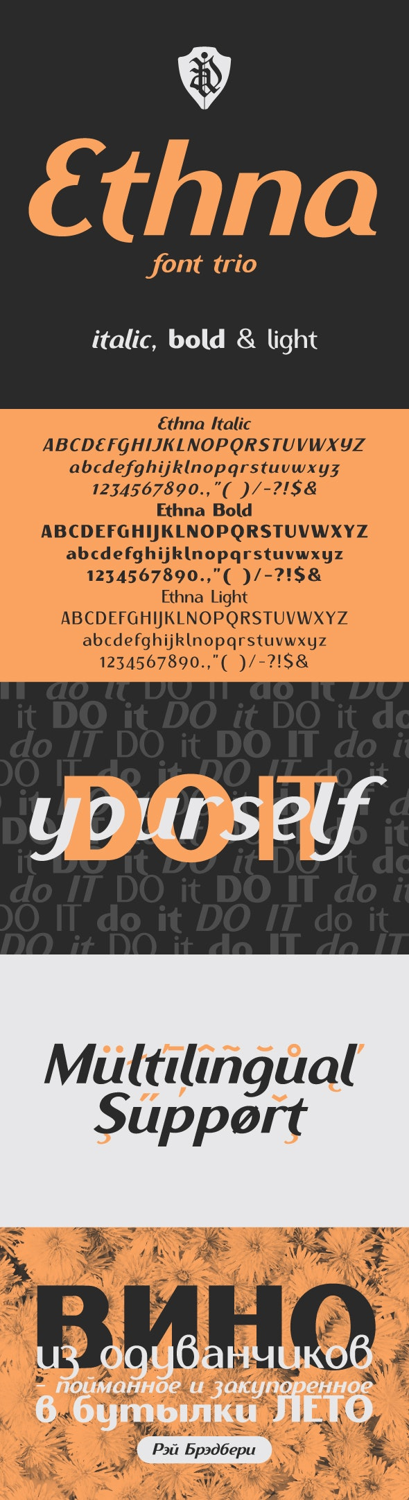 Ethna font trio - Sans-Serif Fonts