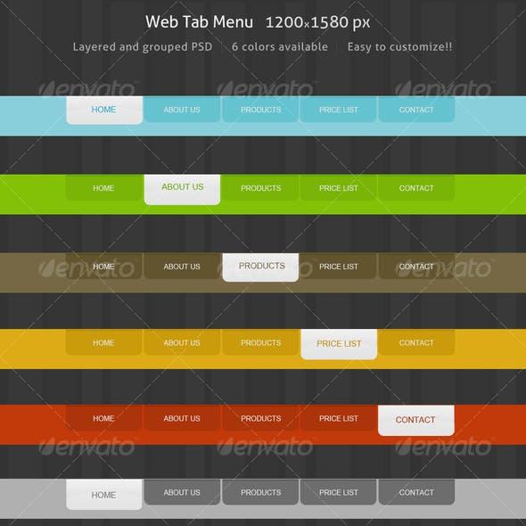 Web colorful Pack Menu navigation tabs