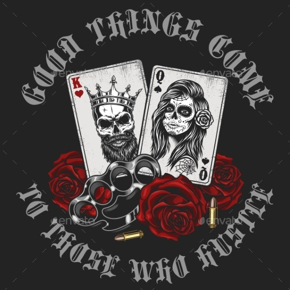 Gangsta Concept with Playing Card - Flowers & Plants Nature