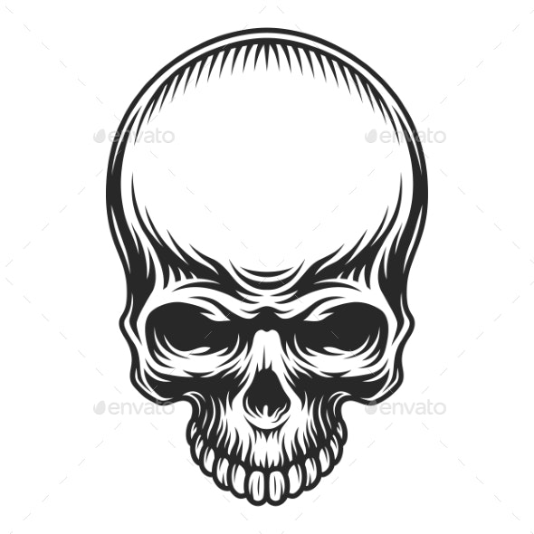 Retro Vintage Skull - Miscellaneous Vectors