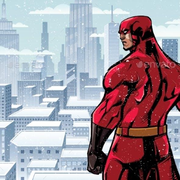 Superhero Back City Winter