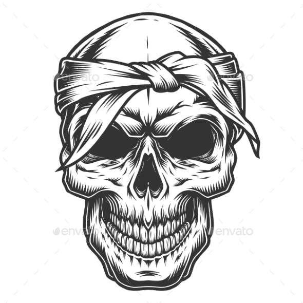 Skull in Vintage Style - Miscellaneous Vectors