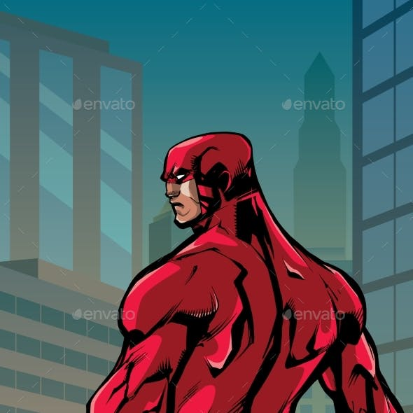 Superhero Back No Cape City