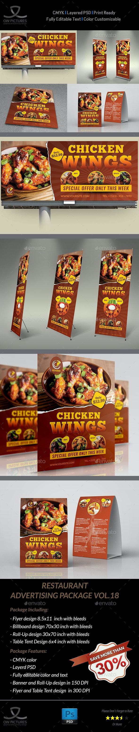 Restaurant Advertising Bundle Vol.18 - Signage Print Templates