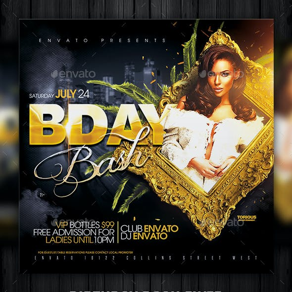 Birthday Bash Flyer Template