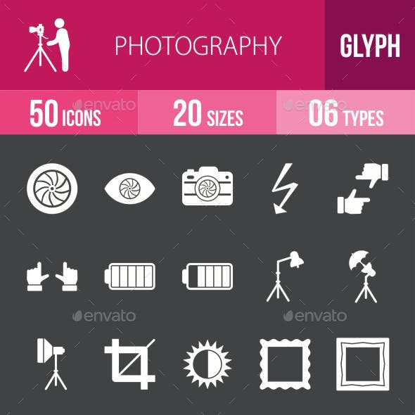 Photography Glyph Inverted Icons