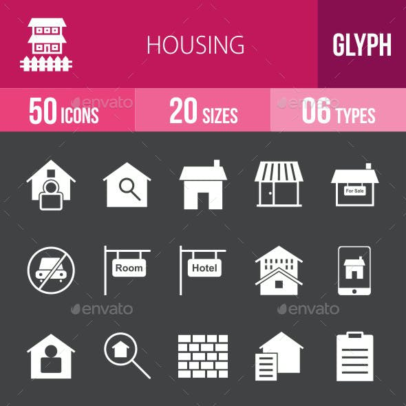 Housing Glyph Inverted Icons