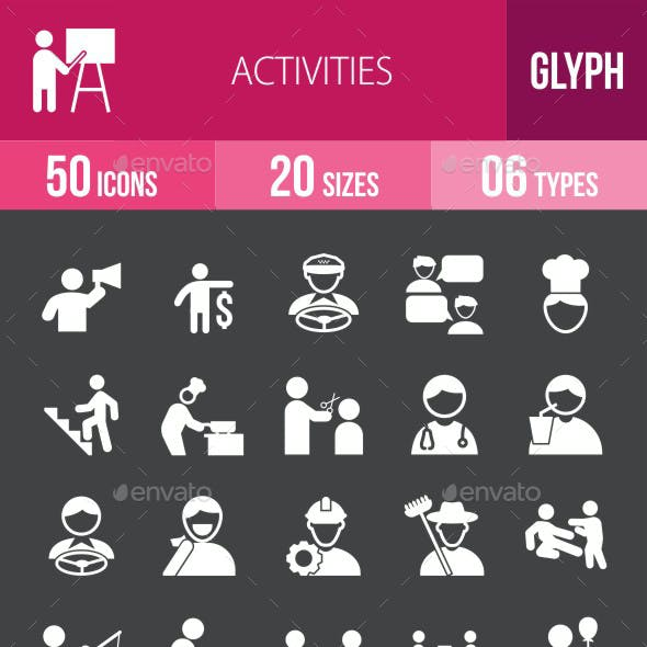 Activities Glyph Inverted Icons