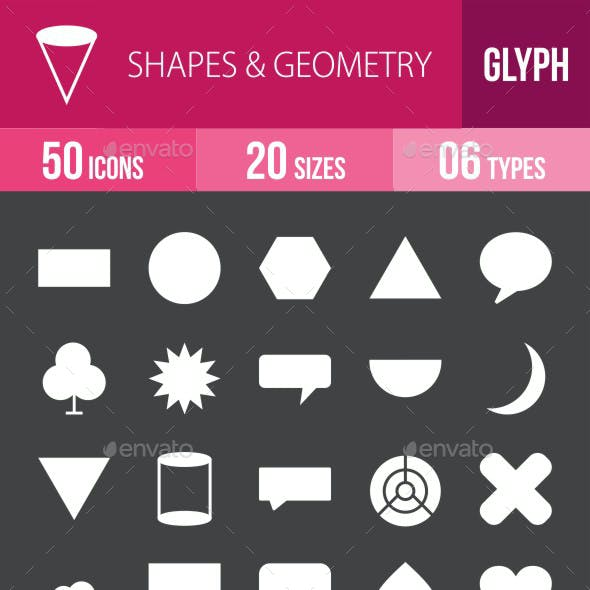 Shapes & Geometry Glyph Inverted Icons