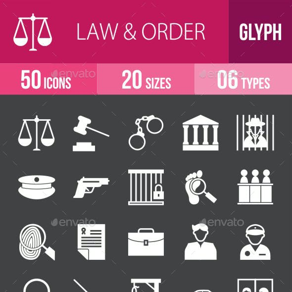 Law & Order Glyph Inverted Icons